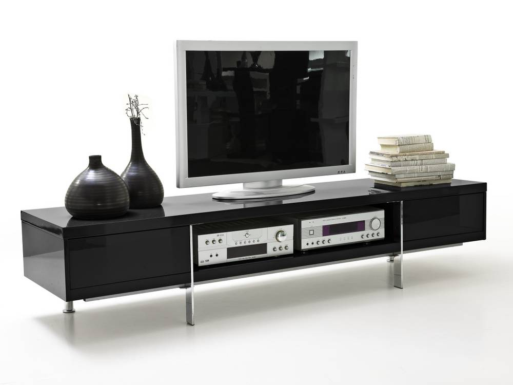 brisa tv lowboard hochglanz lackiert schwarz. Black Bedroom Furniture Sets. Home Design Ideas