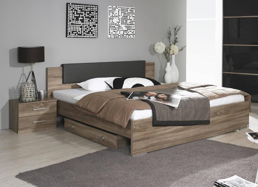 carlotta futonbett doppelbett eiche havanna wei o basalt 160x200 cm eiche havanna basalt. Black Bedroom Furniture Sets. Home Design Ideas
