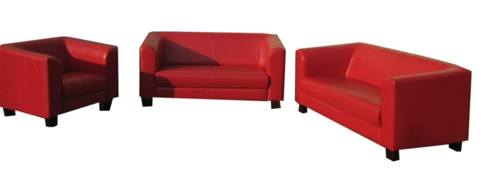 chicago 3 2 1 sofagarnitur couch 3 tlg sessel 2 sitzer 3 sitzer rot kunstleder ebay. Black Bedroom Furniture Sets. Home Design Ideas