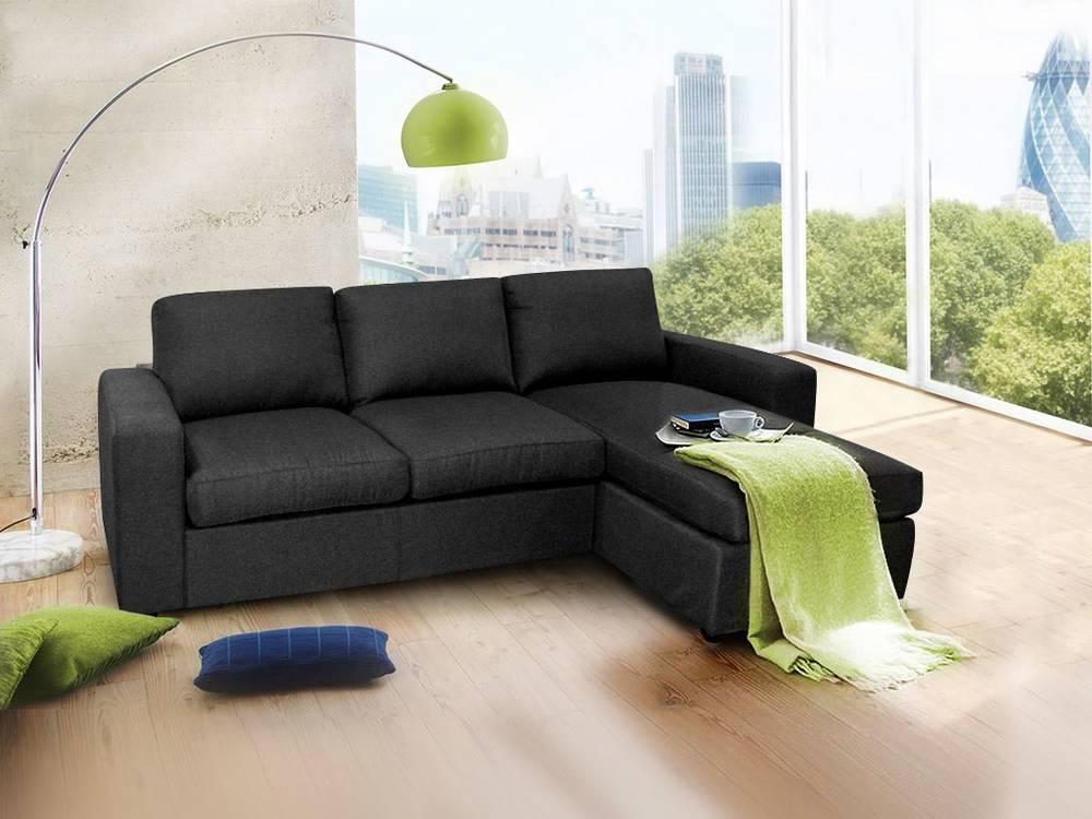 Chilly ecksofa eckcouch sofa couch polsterecke stoff for Schwarzes ecksofa