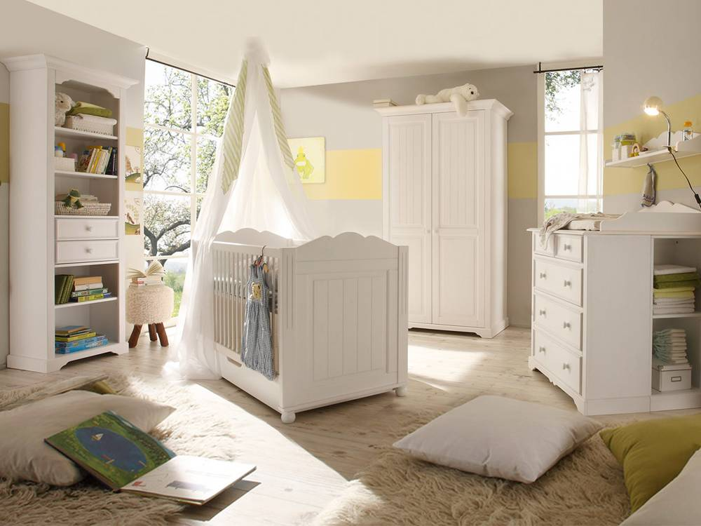 cinderella premium babyzimmer kiefer wei. Black Bedroom Furniture Sets. Home Design Ideas