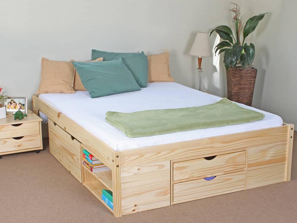 claas funktionsbett 140x200 cm kiefer natur. Black Bedroom Furniture Sets. Home Design Ideas