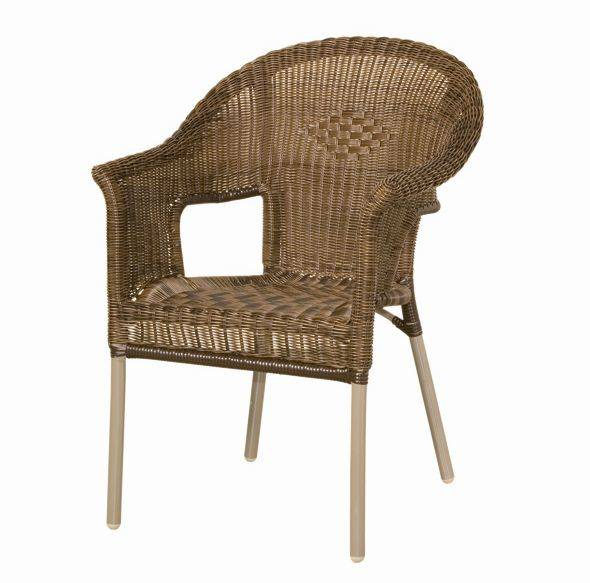 siena garden costa gartenstuhl stapelsessel bi color mocca gestell champagner. Black Bedroom Furniture Sets. Home Design Ideas