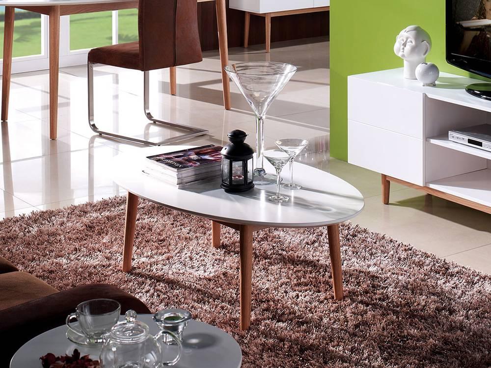 meran couchtisch oval 120x70 cm wei eiche massiv. Black Bedroom Furniture Sets. Home Design Ideas