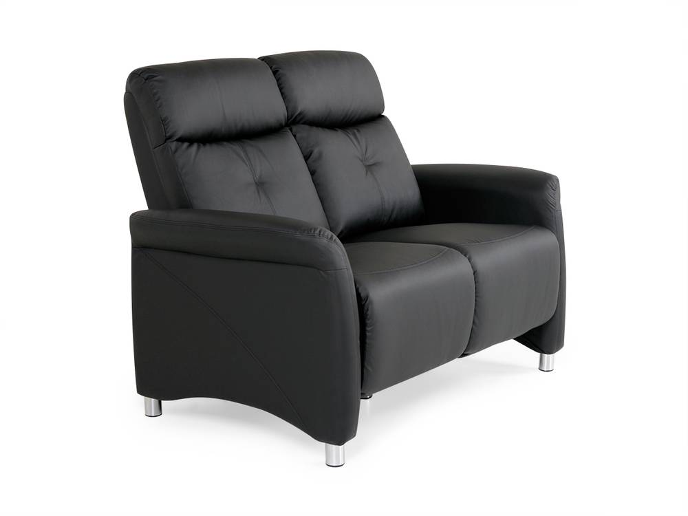 cushy sofa 2 sitzer polstersofa couch kunstleder schwarz. Black Bedroom Furniture Sets. Home Design Ideas