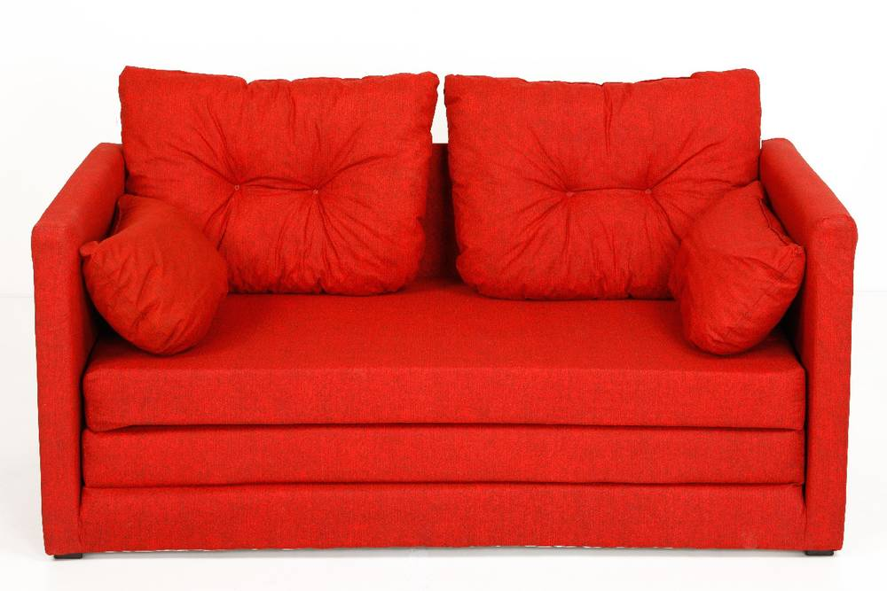 davos schlafcouch trendiges sofa schlafsofa kindersofa schlaffunktion rot ebay. Black Bedroom Furniture Sets. Home Design Ideas