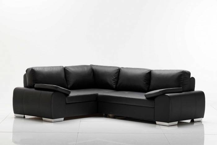 eila ecksofa polsterecke kunstleder kunstleder weiss ottomane links. Black Bedroom Furniture Sets. Home Design Ideas