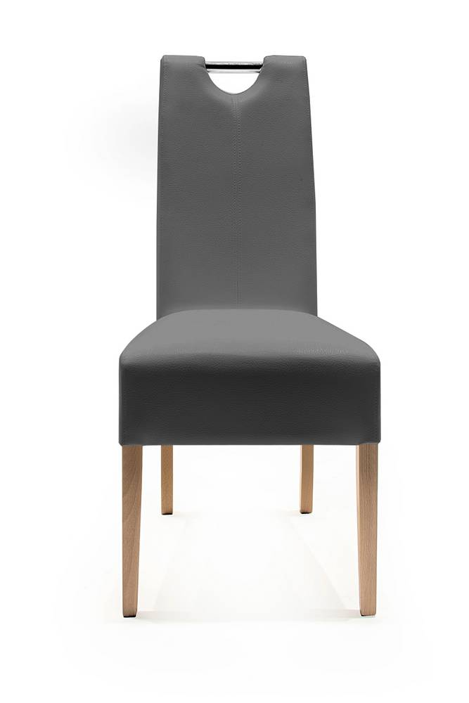 Polsterstuhl esstischstuhl stuhl esszimmestuhl kunstleder for Esstischstuhl grau