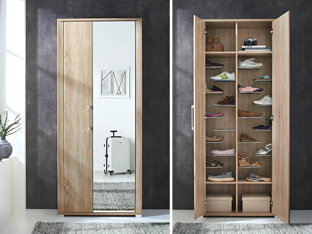 finn garderobenschrank schuhschrank dielenschrank weiss hochglanz. Black Bedroom Furniture Sets. Home Design Ideas