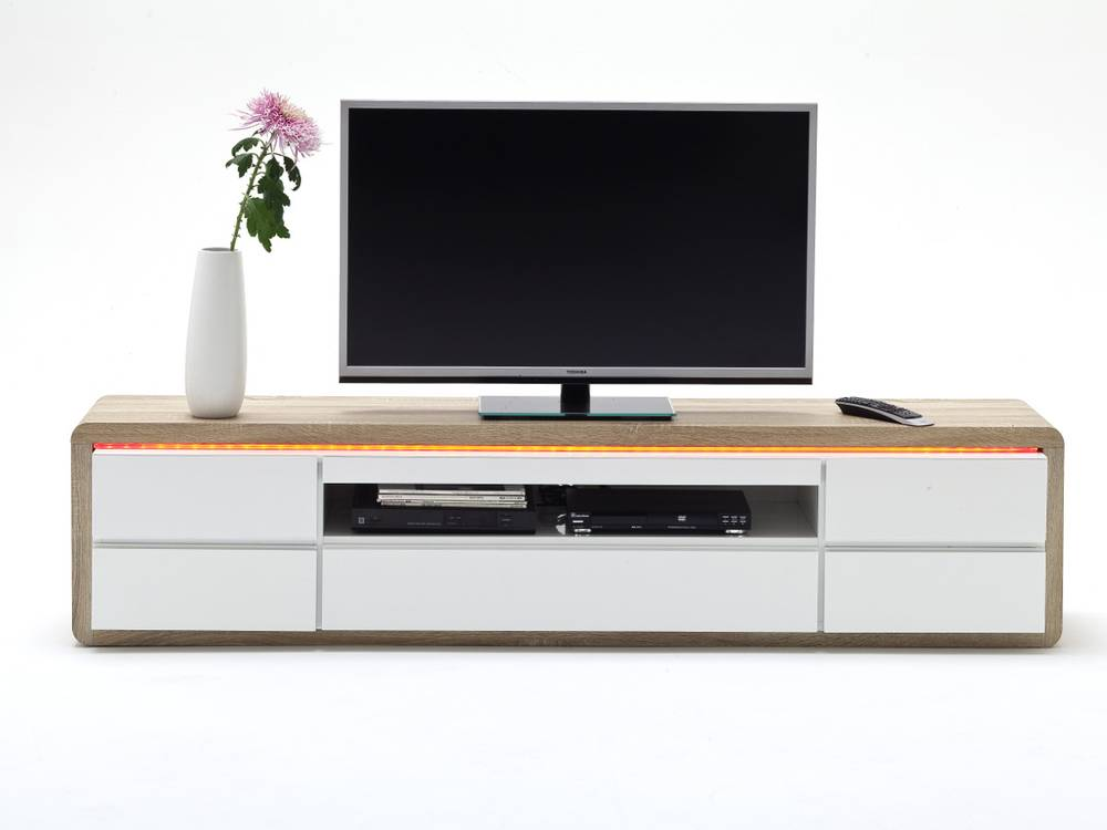 franca tv lowboard weiss eiche s gerau. Black Bedroom Furniture Sets. Home Design Ideas