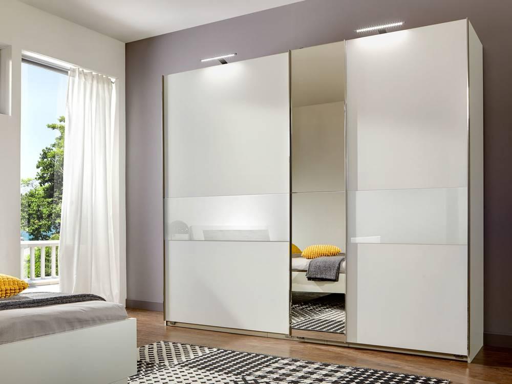 gino schwebet renschrank 200 cm weiss weiss. Black Bedroom Furniture Sets. Home Design Ideas
