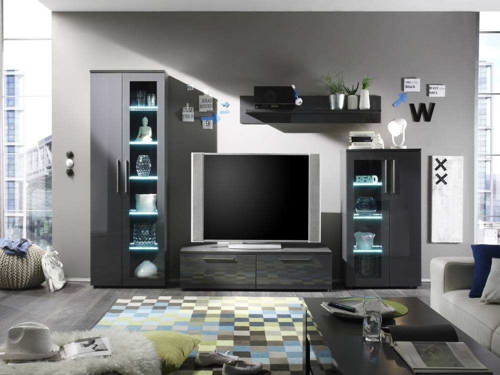 design wohnwand grau neuesten design kollektionen f r die familien. Black Bedroom Furniture Sets. Home Design Ideas