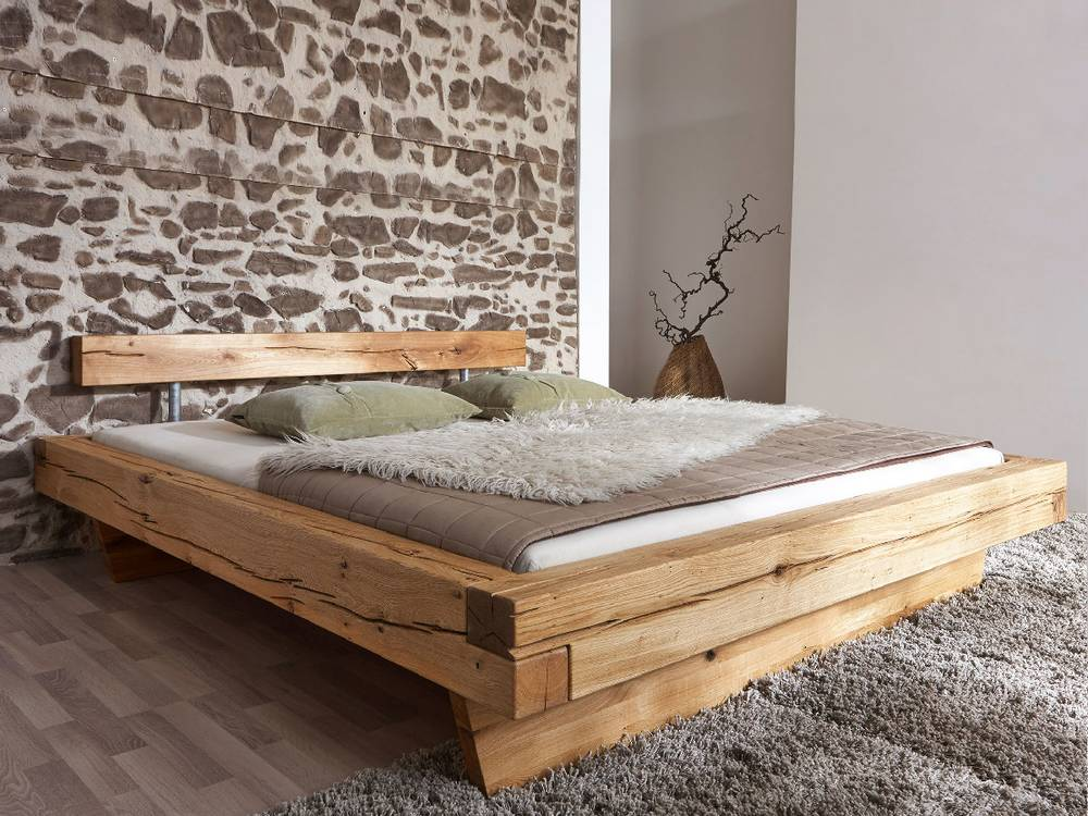 gulliver doppelbett massivholzbett holzbett bett wildeiche ge lt 180x200 cm ebay. Black Bedroom Furniture Sets. Home Design Ideas