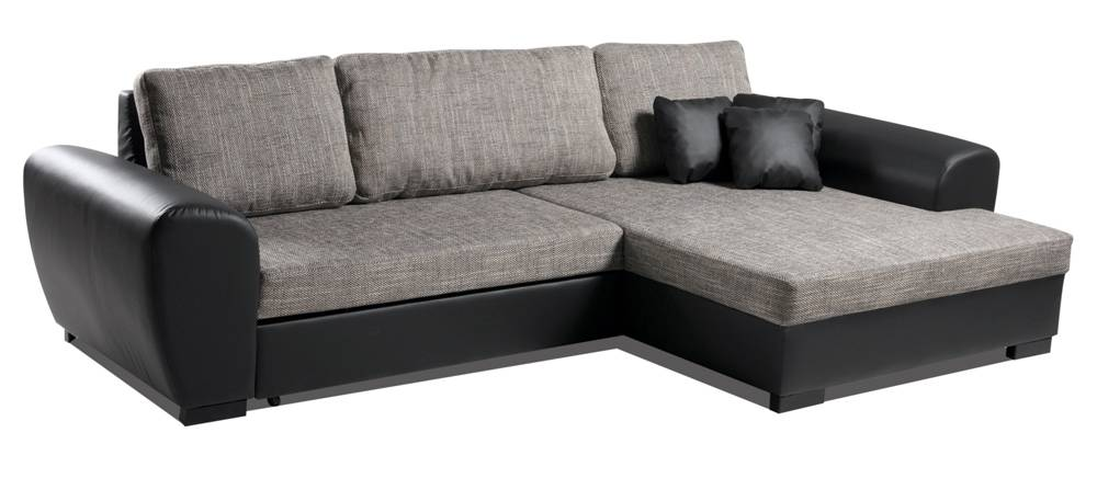 jessica polsterecke sofa eckcouch ottomane rechts kunstleder schwarz stoff grau ebay. Black Bedroom Furniture Sets. Home Design Ideas