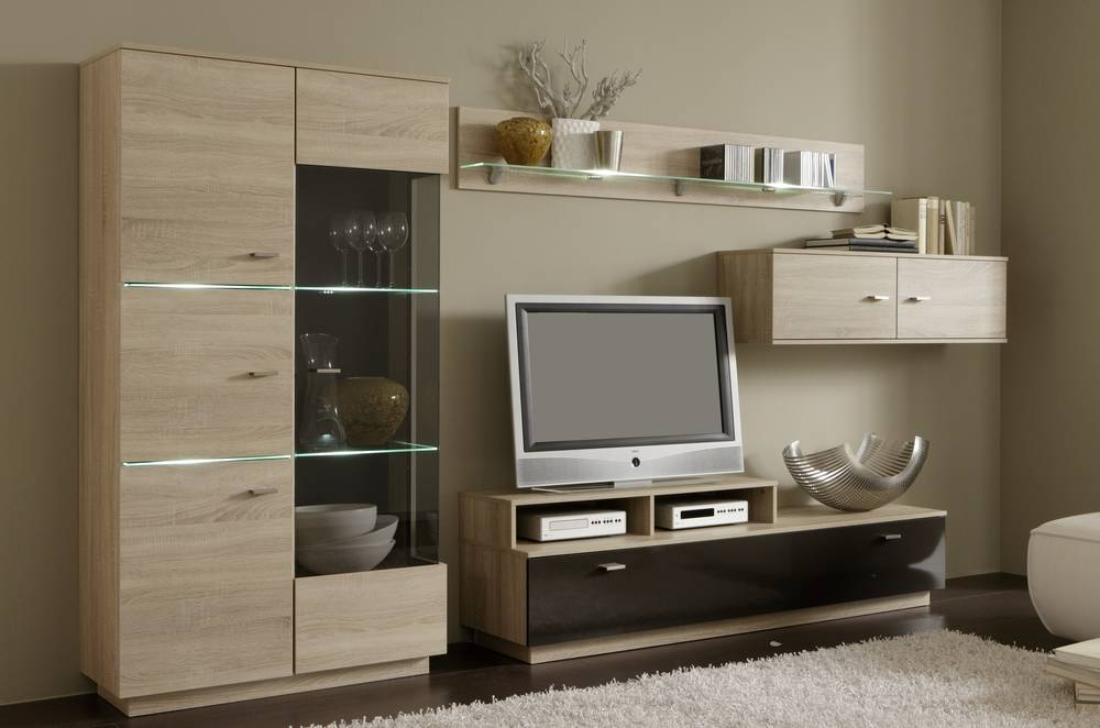 wohnwand anbauwand schrankwand tv wand fernsehwand jimmy. Black Bedroom Furniture Sets. Home Design Ideas