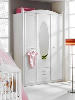 Leviana 3 trg kleiderschrank schrank babyzimmer for Spiegel kinderzimmer