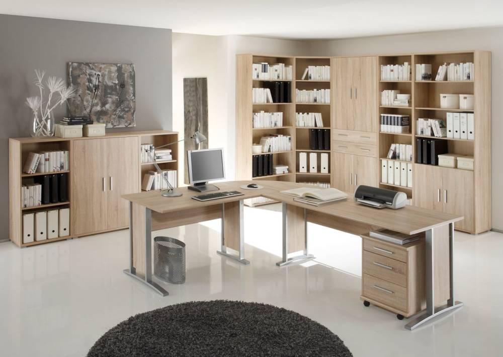 office line heimb ro i 9tlg eiche sonoma. Black Bedroom Furniture Sets. Home Design Ideas