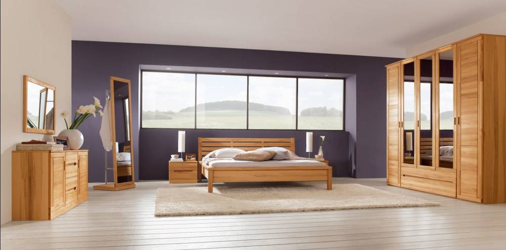 caro komplett schlafzimmer i kernbuche ge lt gewachst. Black Bedroom Furniture Sets. Home Design Ideas