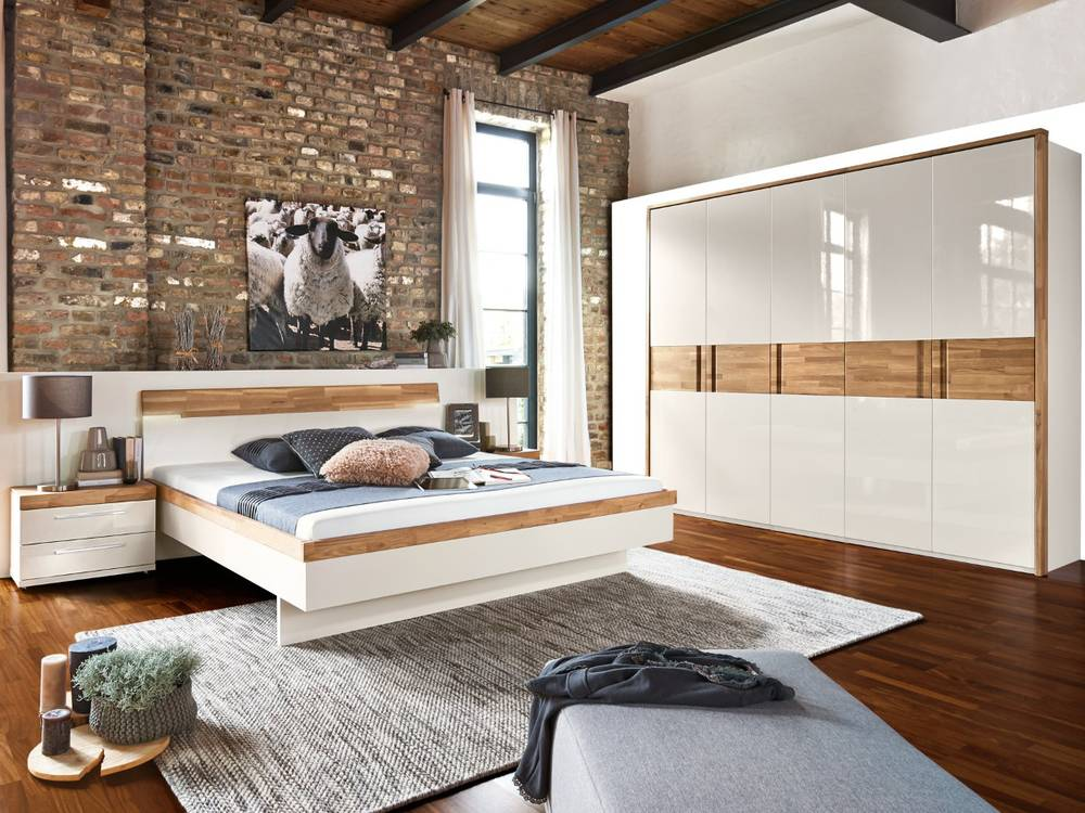 arte m feel s komplett schlafzimmer alpina weiss eiche massiv. Black Bedroom Furniture Sets. Home Design Ideas