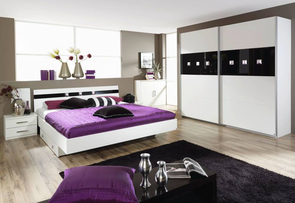 tonio schlafzimmer ii wei schwarz. Black Bedroom Furniture Sets. Home Design Ideas