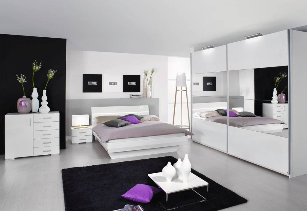 tassilo komplettes schlafzimmer ii wei hochglanz. Black Bedroom Furniture Sets. Home Design Ideas