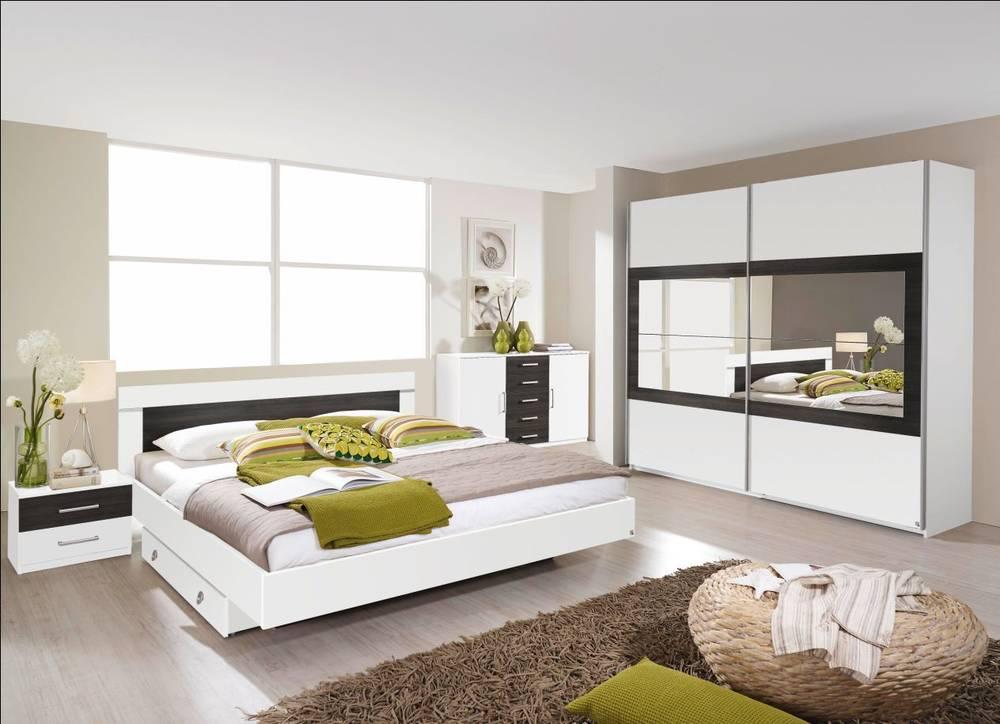 velo komplett schlafzimmer 160 x 200 226 cm eiche sonoma alpinweiss. Black Bedroom Furniture Sets. Home Design Ideas