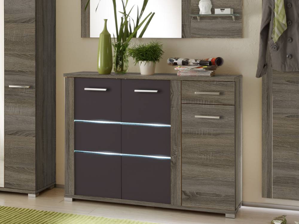 marika schuhkommode sonoma dunkel dunkelbraun. Black Bedroom Furniture Sets. Home Design Ideas