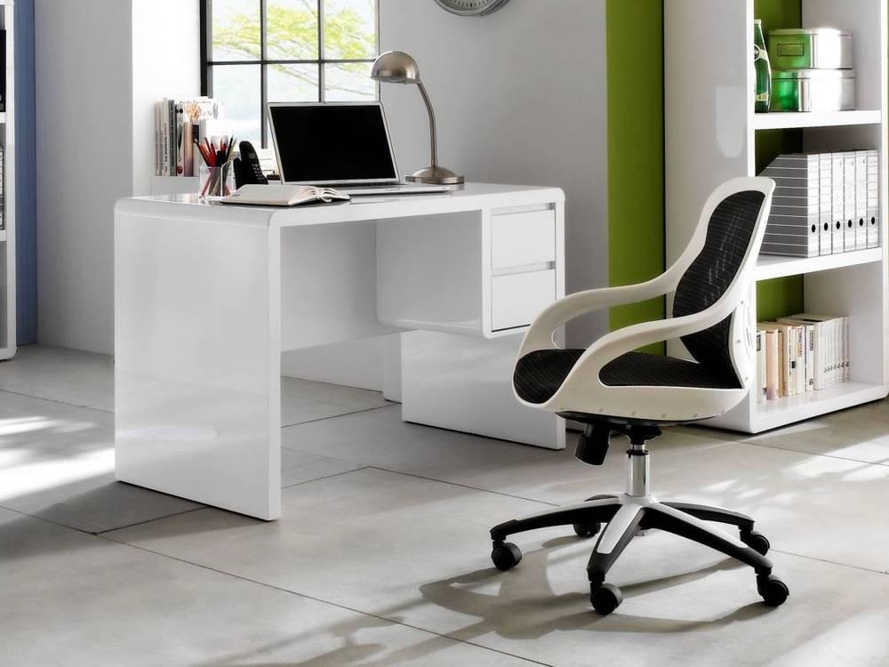 Schreibtisch Hochglanz Weiss 2021