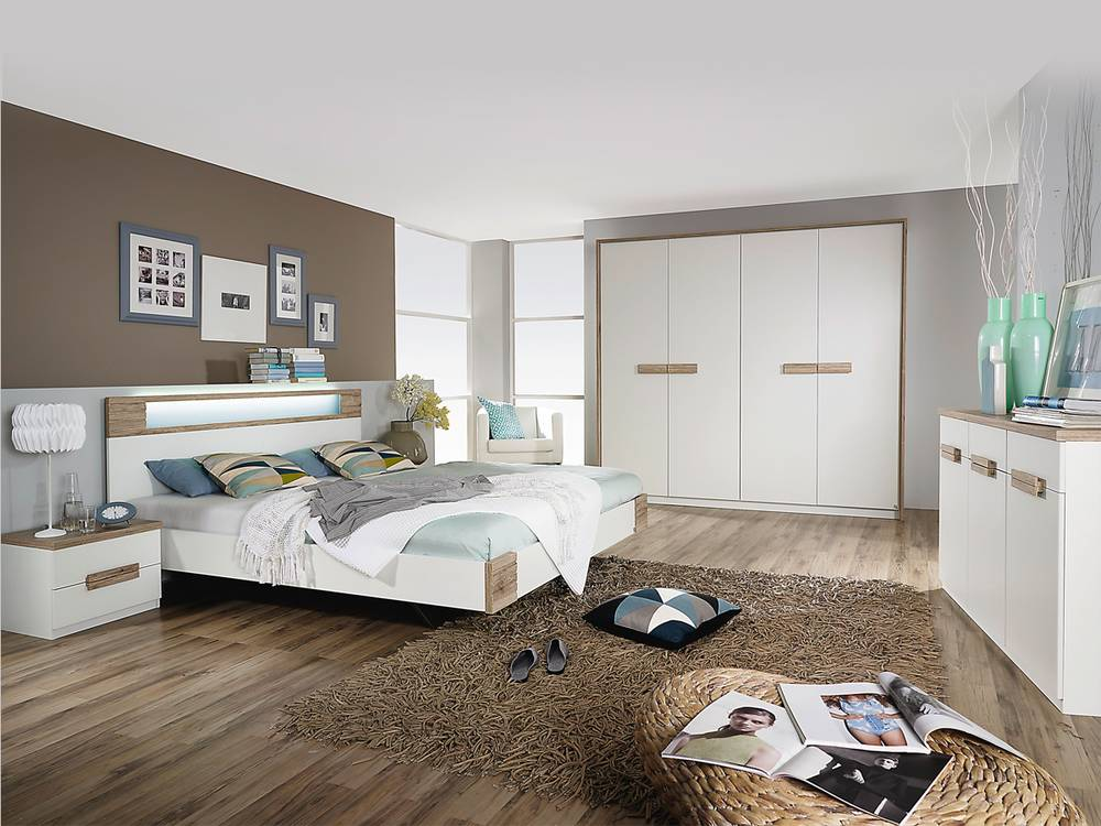 schlafzimmer komplett weiss eiche die neuesten. Black Bedroom Furniture Sets. Home Design Ideas
