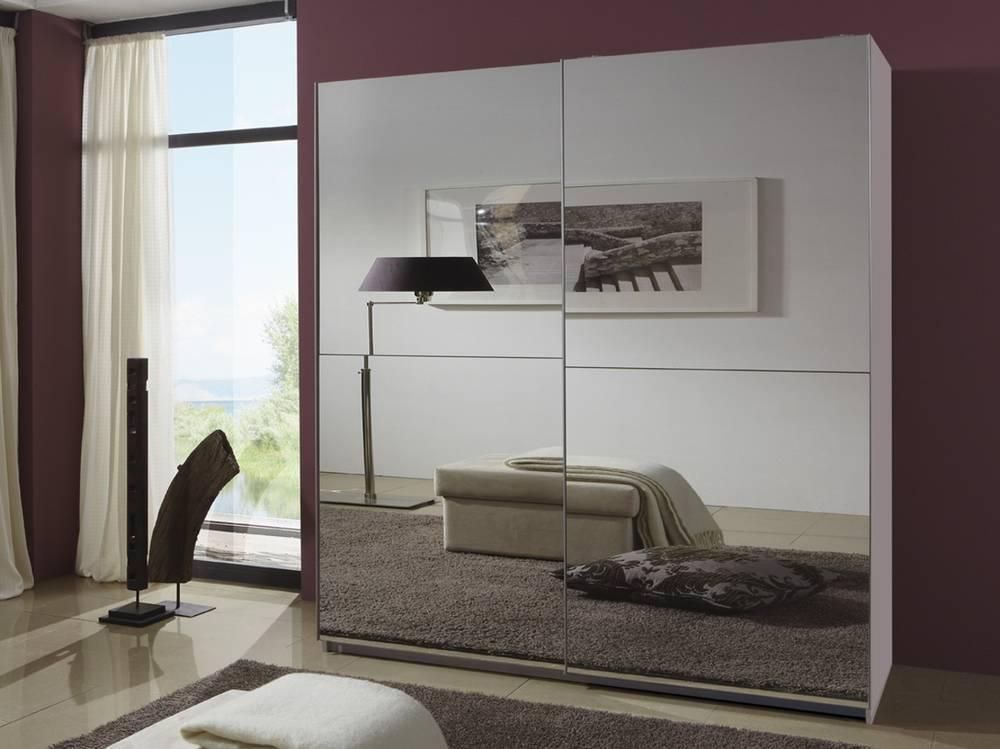 qualle schwebet renschrank 180 cm weiss spiegel. Black Bedroom Furniture Sets. Home Design Ideas