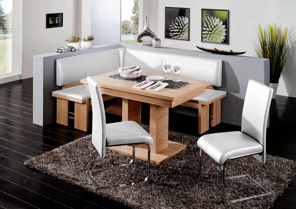 rhodos eckbank eckbankgruppe sitzbank bank esstischbank k che wildeiche weiss ebay. Black Bedroom Furniture Sets. Home Design Ideas