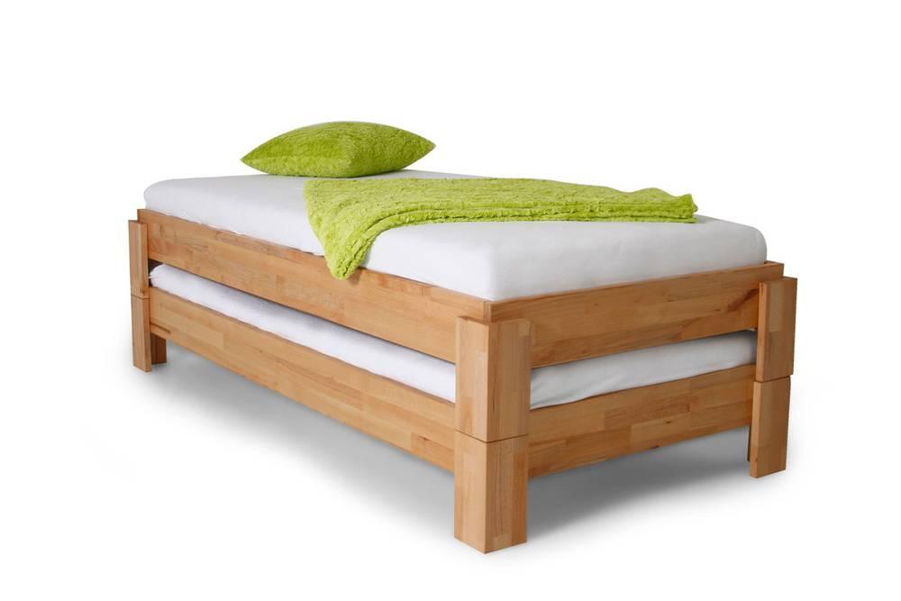 turm stapelbett massivholzbett 90x200 cm wildeiche. Black Bedroom Furniture Sets. Home Design Ideas