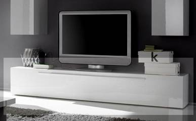 portia tv unterteil hifi bank hifi m bel tv bank tv rack hochglanz lackiert wei ebay. Black Bedroom Furniture Sets. Home Design Ideas