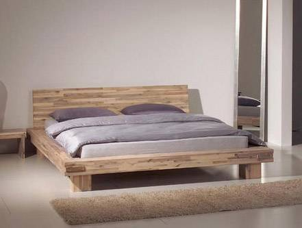 lima massivholzbett singlebett bett holz akazie massiv inkl kopfteil 140x200 cm ebay. Black Bedroom Furniture Sets. Home Design Ideas