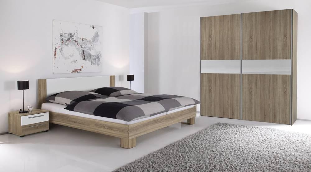 VANTI Komplettes Schlafzimmer 4-teilig Eiche Sonoma/weiß