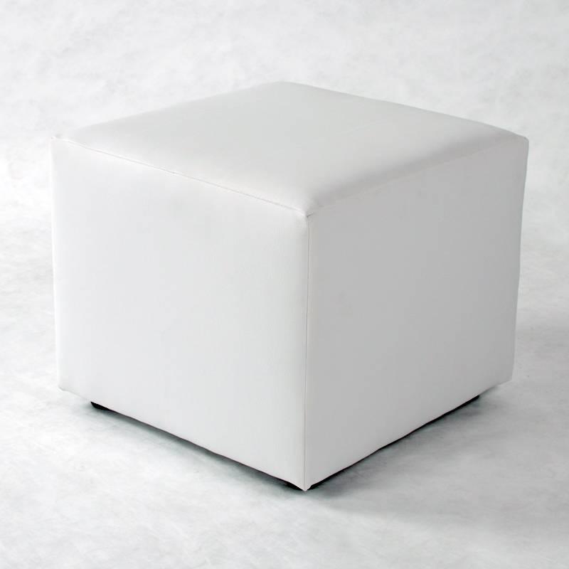 pucki sitzhocker kunstleder weiss. Black Bedroom Furniture Sets. Home Design Ideas