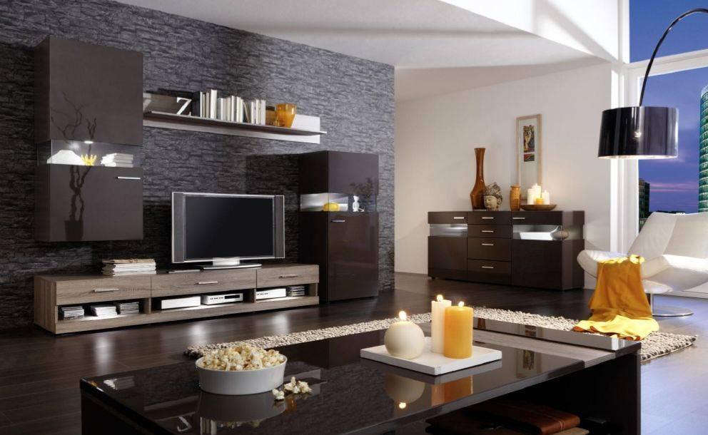 nelson wohnwand ii wohnzimmer anbauwand schrankwand sonoma eiche braun ebay. Black Bedroom Furniture Sets. Home Design Ideas