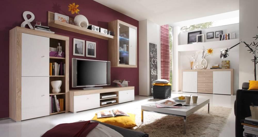 Corsa wohnwand schrankwand anbauwand wandboard schrank tv for Jugendzimmer schrankwand
