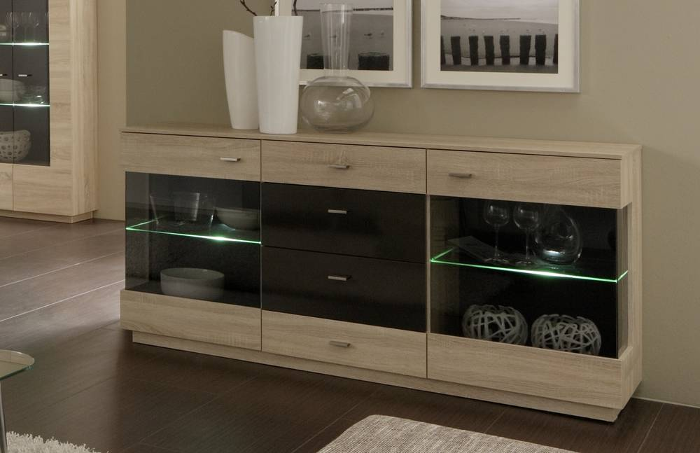 jimmy sideboard vitrine wohnzimmer schrank kommode eiche s gerau terra hochglanz ebay. Black Bedroom Furniture Sets. Home Design Ideas