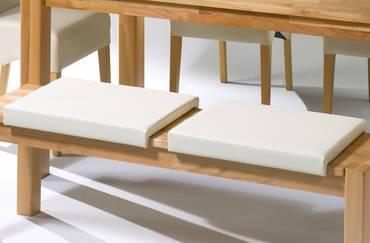 Sitzkissen/Klemmkissen für Sitzbank Kunstleder beige