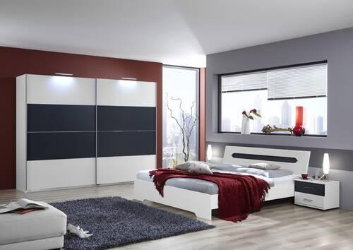 BALU komplett Schlafzimmer I Alpinweiss/Anthrazit