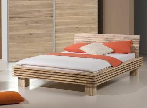 ARENAL Bett Akazie massiv 160 x 200