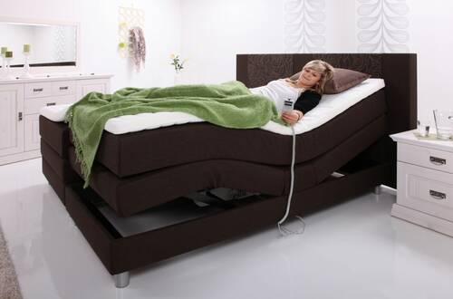 Boxspringbett Exclusive 100 x 200 | anthrazit