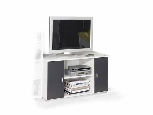 COOKIE TV-Unterteil Alpinweiss/grau