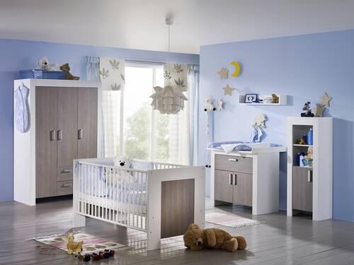 Kinderzimmer Janis Bett + Schrank + Wickelkommode 3-türig
