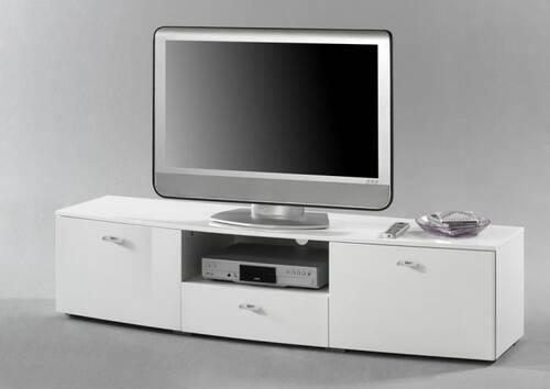STYLE MDF Lowboard / TV-Schrank Hochglanz Lack Weiß