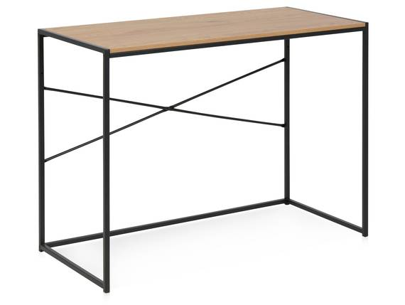 SYDNEY Schreibtisch I, Material MDF, schwarz/wildeichefarbig  DETAIL_IMAGE