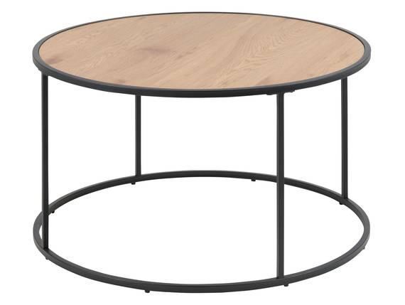 SYDNEY Couchtisch rund, Material MDF, schwarz/wildeichefarbig  DETAIL_IMAGE