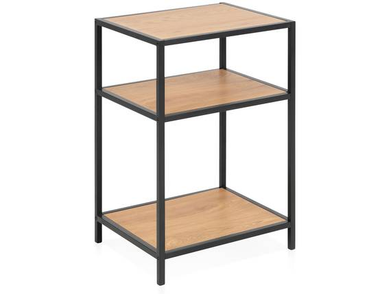 SYDNEY Nachttisch, Material MDF, schwarz/wildeichefarbig  DETAIL_IMAGE