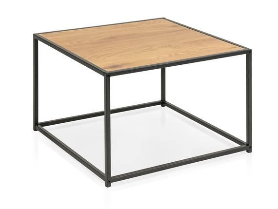 SYDNEY Couchtisch, Material MDF,  schwarz/wildeichefarbig 60 x 60 cm DETAIL_IMAGE